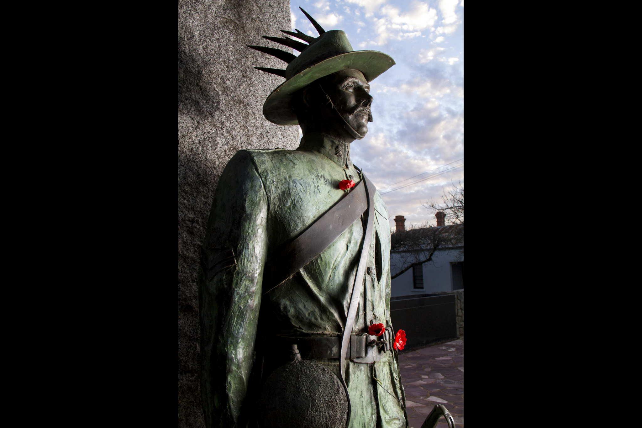 """War Memorial Murrumburrah NSW, """"Anticipating the Enemy"""""""