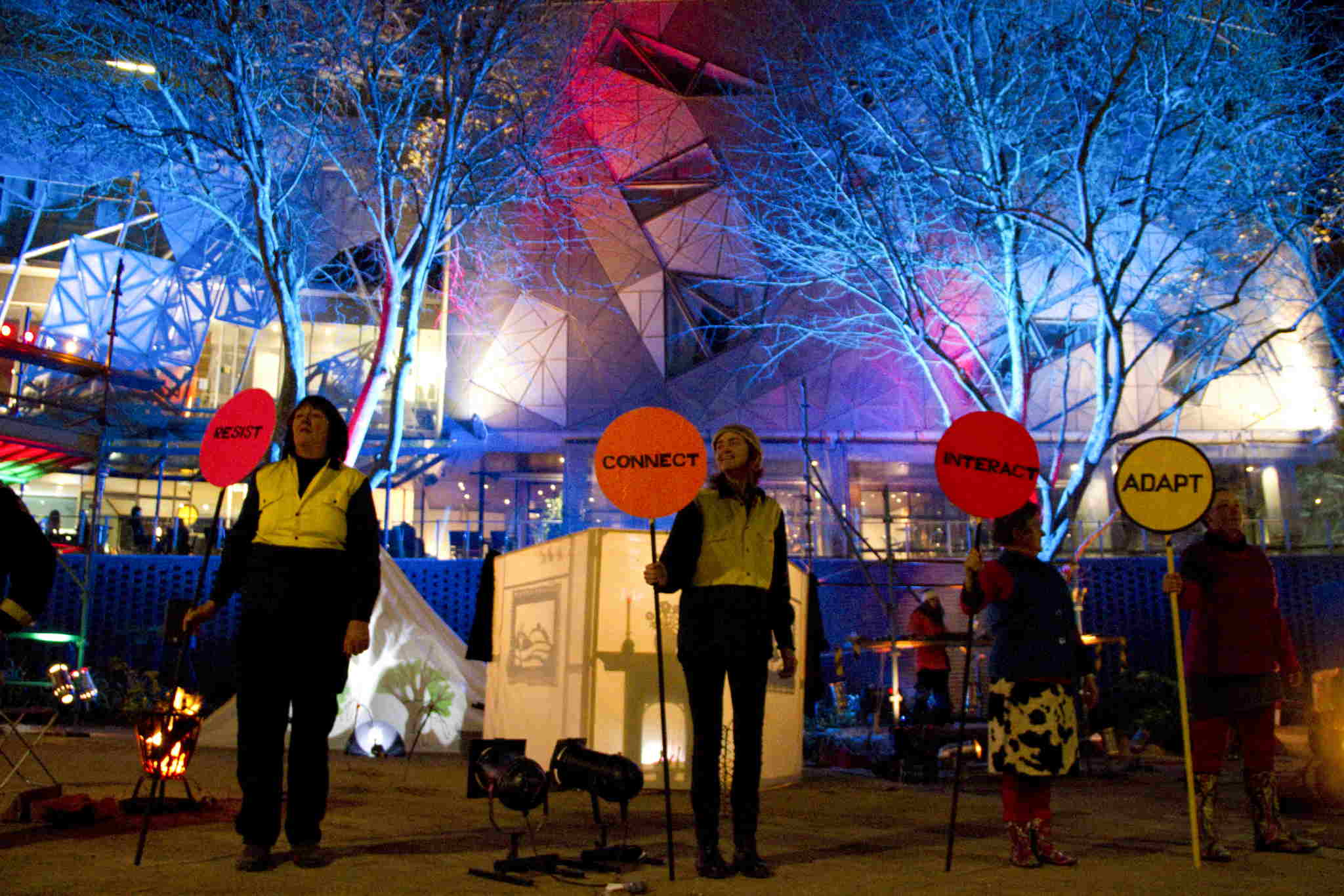 Illuminated by Fire Federation Square 30 June 2011