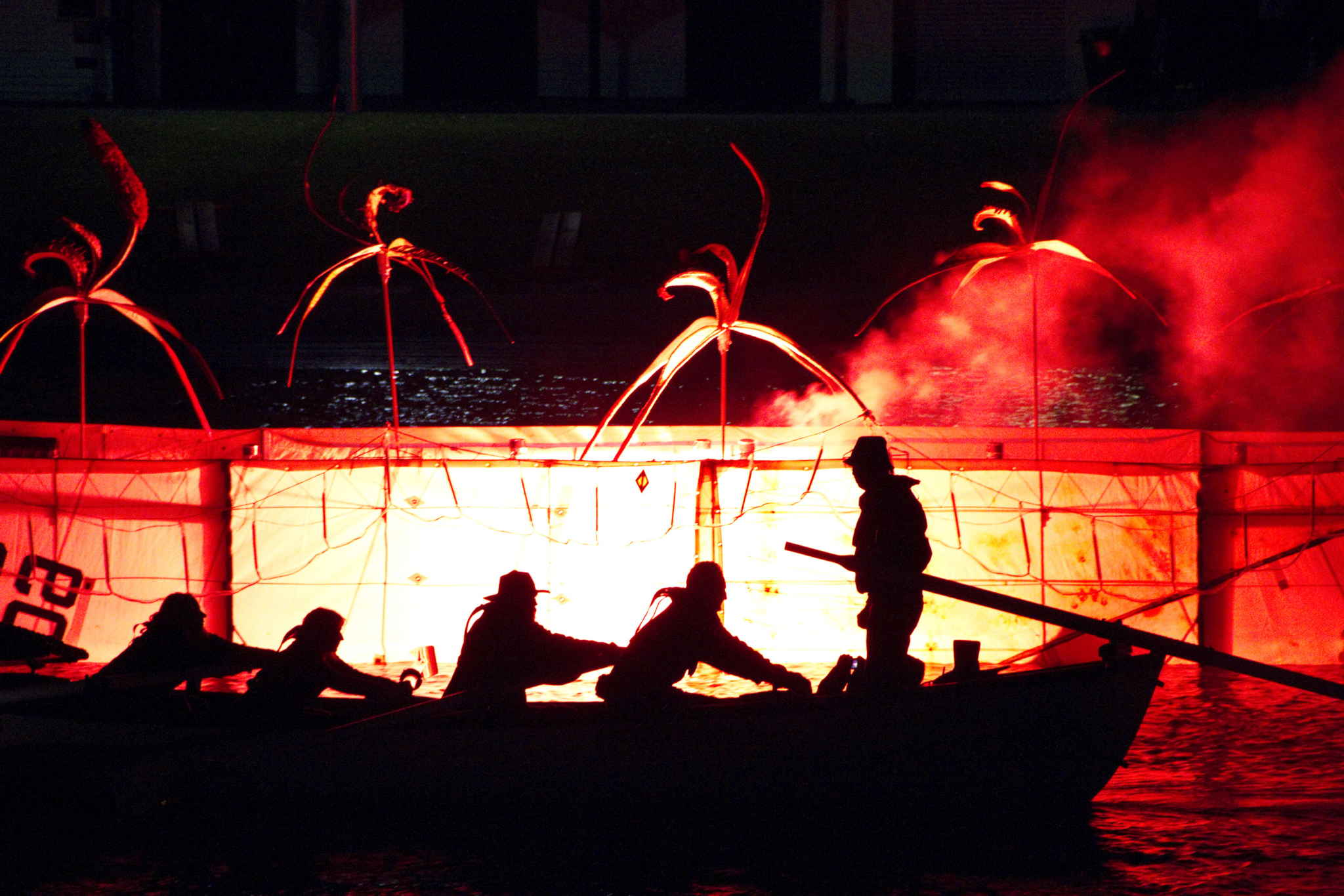 Illuminated by Fire, Federation Square, 2011. Artist: Carmel Wal