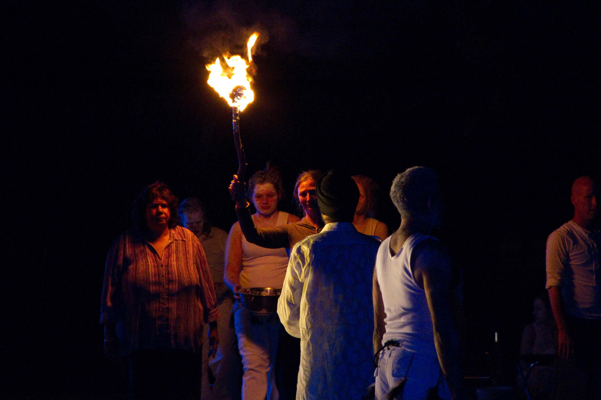 Illuminated By Fire, Swan Hill, 2010. Artists: Margie Mackay and